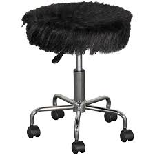 Plush <b>Office Stool</b> in <b>Black</b> | FJ-283-3 <b>BLACK</b> | DAKANG HOLDING ...