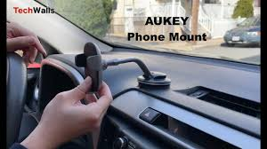 AUKEY Dashboard and <b>Windshield Car</b> Phone Mount Unboxing ...