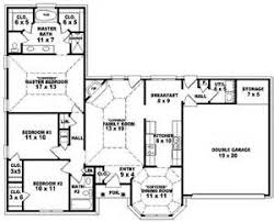 Single Story Bedroom House Plans    Bedroom One Story Ranch        Single Story Bedroom House Plans   Bedroom Floor Plans One Story House