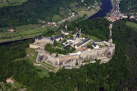 Vista da Fortaleza de Königstei para o rio Elba