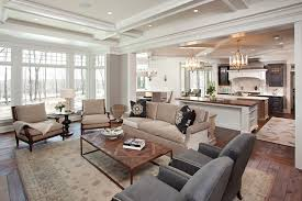 hamptons in the country example of a classic open concept living room design in minneapolis with bedroommesmerizing amazing breakfast nook decorating ideas