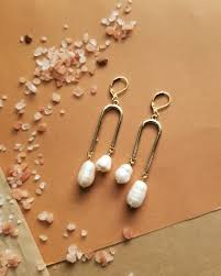 HEX Metals & Minerals— The Milk <b>Earrings</b> | <b>Baroque Pearl</b> Double ...