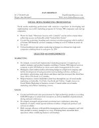 social media marketing resume sample mission 4 media media marketing resume skills social