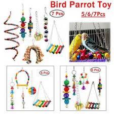 5/6/7 Pcs Bird Parrot Toy Hanging Bell Pet Bird Cage ... - Vova