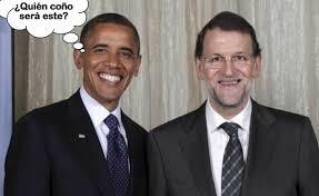 Resultado de imagen para obama y Rajoy