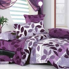 bedroom cute bedroom interior with purple comforters and