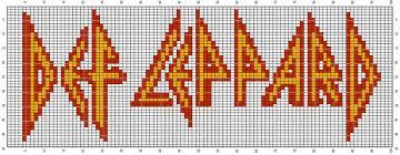 Def Leppard (100x50)   Cross stitch music, Cross stitch patterns ...