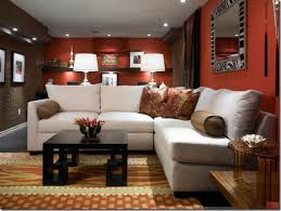 room paint red: astonishing living room paint ideas with red color and ceiling lighting furnished with white sofa and
