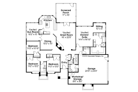 Contemporary House Plans   Sedalia     Associated DesignsContemporary House Plan   Sedalia     Floor Plan