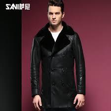 2019 Quality <b>Men Sheepskin</b> Coat <b>Shearling Fur</b> Coat <b>Male Casual</b> ...