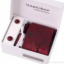Ikepeibao <b>Necktie Custom Brand Tie</b> Wedding <b>Set Necktie</b> Wine ...