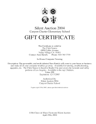 gift certificate template in word format so that you can type in auction gift certificate template