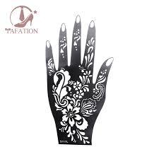 <b>1Pcs Henna Hand Stencil</b> Flower Glitter Airbrush Mehndi Henna ...