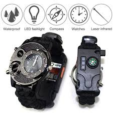11 In 1 Outdoor Survival Watch Camping <b>Mountaineering</b> Umbrella ...