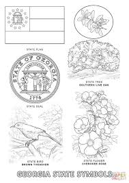 Small Picture Georgia State Symbols coloring page Free Printable Coloring Pages