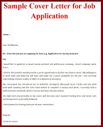 sample cover letter for jobs letter format  cover