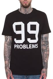 <b>Футболка</b> MISTER TEE 99 Problems T-Shirt (Black, 2XL) | zaym ...