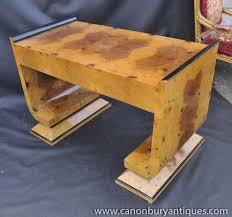 pedestal desk writing table bureau art deco mahogany framed office chair