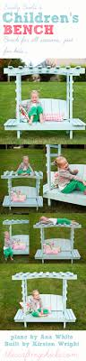 build a childrens arbor bench bedroomeasy eye upcycled pallet furniture ideas