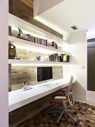storage with office space private office in home with small space long desk and personal computer area homeoffice homeoffice interiordesign understair office