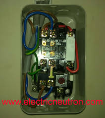 Draw Phasor Diagram Online Direct On Line Starter Electrical Engineering Centre