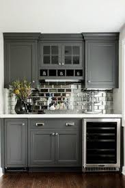 set cabinet full mini summer: dry bar w glass front mini fridge mirrored subway tiles great idea for