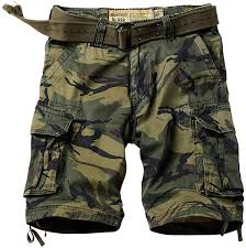 AKARMY Men's <b>Multi Pocket</b> Loose Fit Cotton Twill <b>Cargo Shorts</b> ...