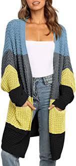 BTFBM <b>Women</b> Long Sleeve Open Front Plain Knit Cardigan ...