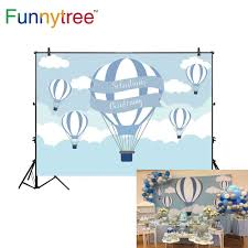 Funnytree <b>photo background</b> photophone hot air balloon backdrop ...