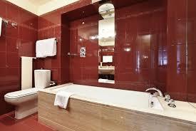 bathroom designs luxurious: incredible red modern bathroom depositphotos  s incredible red modern bathroom