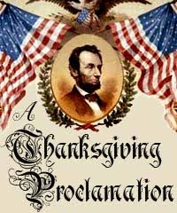 「1863, president abraham lincoln made the last thursday of november as thanksgiving day」の画像検索結果