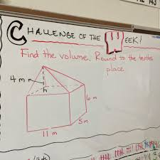 middle school math man challenge of the week this might have been my favorite problem to create who doesn t want to solve a problem a floating pyramid inside of a rectangular prism