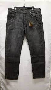 NWT Frye Harrison Slim Straight Denim Black Brock Jeans Mens Sz ...