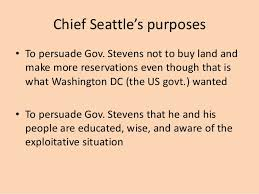 chief seattle rhetorical devices promptchief seattle speech rhetorical devices analysis feedback