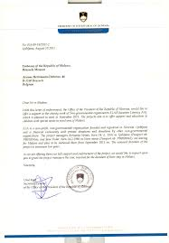 letter of appreciation to the president of slovenia ela letter of recommendation from the office of the president of slovenia