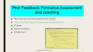 day dr deborah brady exit slip feedback exit slipresponse peer feedback formative assessment and coaching 9632peer review as a formative assessment for revision