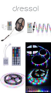 <b>zdm</b> waterproof <b>5m</b> 24w rgb smd light <b>led</b> strip 44key ir remote ...