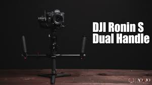 extended handle dual handheld grip bracket kit for dji ronin s gimbal stabilizer with soft rubber ring padded