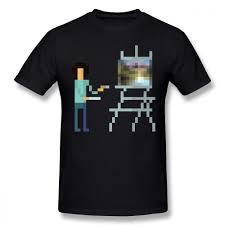 <b>Bob Ross T Shirt</b> Pixel Ross T Shirt Streetwear Short Sleeve Tee ...