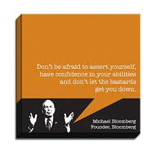 Engrave-Michael Bloomberg - Startup Quotes - Canvas Print ✓ | BG ... via Relatably.com