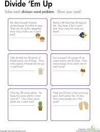Division, Word problems and Worksheets on Pinterest