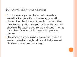 narrative essay presentation   narrative essay