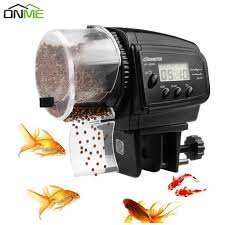 Onme <b>LCD Electronic Automatic Fish</b> Feeder Dispenser Timer ...