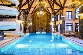 Impressive Mansion With Indoor Pool Slides Amazing Swimming Is Located In A Inside Inspiration Decorating