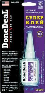 """<b>Суперклей</b> индустриальный """"<b>Done Deal</b>"""", 30 г. DD 6643 — купить ..."""