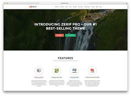 40 best wordpress corporate business themes of 2017 colorlib zerif pro creative flat design multipurpose theme