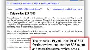 shady craigslist ad offers cash for fake yelp reviews eater