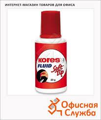 <b>Корректирующая жидкость Kores Soft</b> Tip Fluid 25мл с кисточкой ...