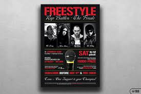 style rap battle flyer template v8 design bundles style rap battle flyer template v8 example image 2