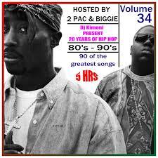 Dj Kimoni JUST CLASSIC HIP HOP Rnb (80's 90's) Hosted by 2 Pac & Biggie Volume 34 (1 DVD) 8-27-14